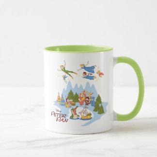 Taza Peter Pan que vuela sobre Neverland