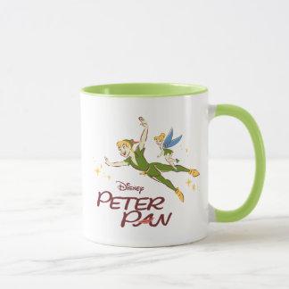Taza Peter Pan y Tinkerbell