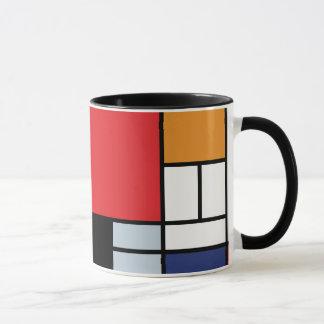 Taza Piet Mondrian - composición con el avión rojo