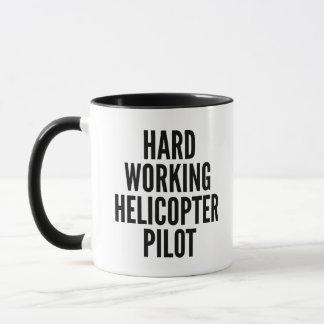 Taza Piloto de trabajo duro del helicóptero