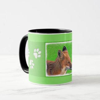 Taza Pintura del Fox rojo - arte original de la fauna