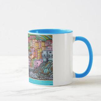 Taza Pintura hermosa, colorida, estilizada de Manarol