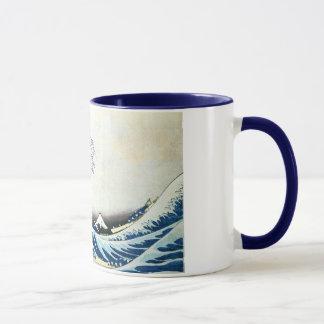 """Taza Pintura japonesa """"de la gran onda"""" por Hokusai"""