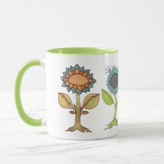 Taza Poca semilla de mostaza, tres amigos de la flor y