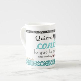 taza poética taza de porcelana