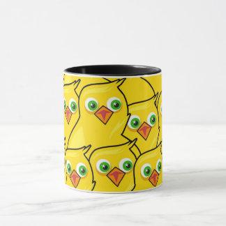 Taza Pollos amarillos brillantes preciosos de Pascua