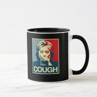 Taza Poster de la tos de Hillary -- Elección 2016 -