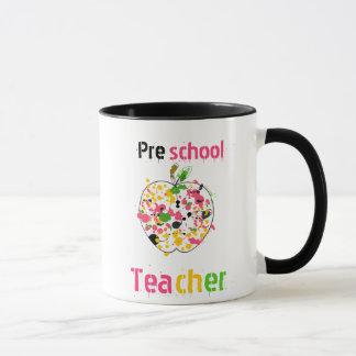 Taza preescolar del profesor - pinte la