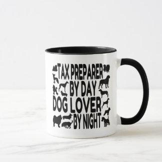 Taza Preparador de impuesto del amante del perro