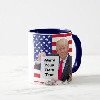 Taza Presidente Donald Trump - escriba su propio texto