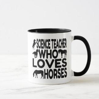 Taza Profesor de ciencias del amante del caballo