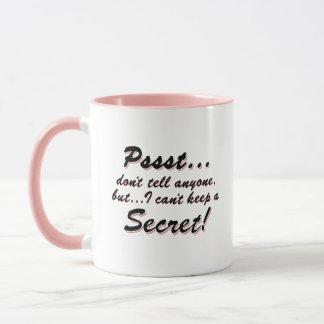 Taza Pssst… no puedo guardar un SECRETO (el negro)