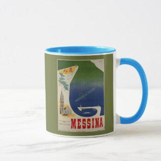 Taza Puerto de Messina de anuncio italiano del viaje