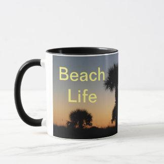 Taza Puesta del sol de la isla de Ana Marie - vida de