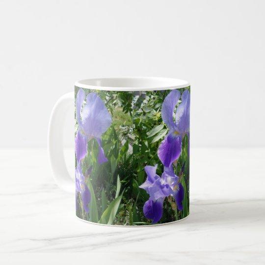 Taza p rpura del caf con leche de la flor zazzle for Capacidad taza cafe con leche