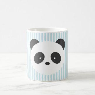 Taza rayada de la panda