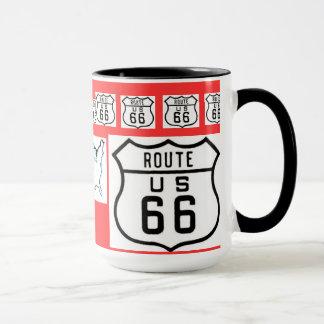 Taza Regalos de la muestra del vintage de la ruta 66