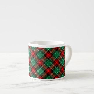 Taza retra verde roja del café express del modelo