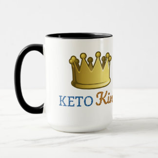 Taza Rey divertido Crown del Keto
