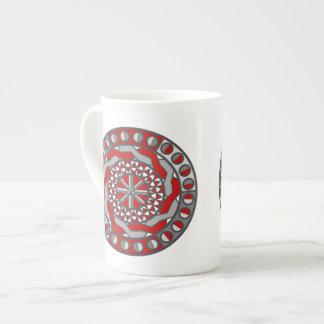 Taza roja de la especialidad de la maquinaria taza de porcelana