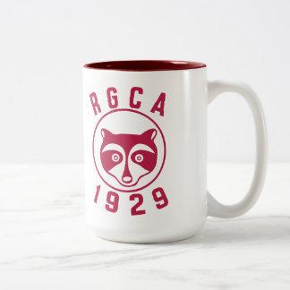 Taza roja del logotipo 15oz de RGCA
