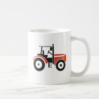 Taza roja del tractor