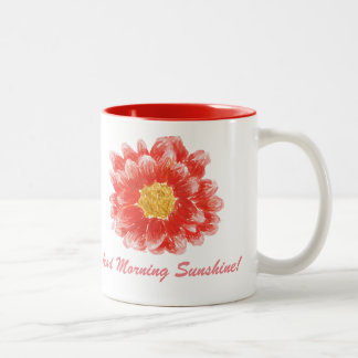 Taza rosada de la flor del crisantemo