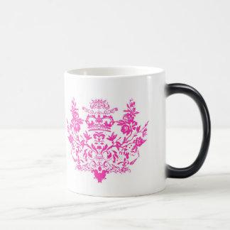 Taza rosada del damasco del Victorian