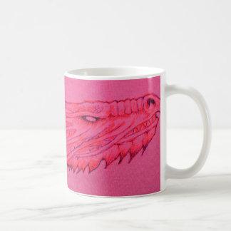 Taza De Café Taza rosada del dragón