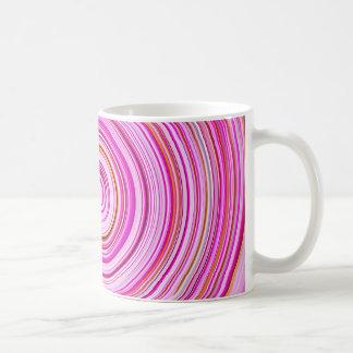 Taza rosada del giro