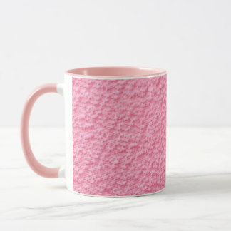 Taza rosada del modelo de la tela