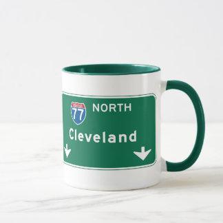 Taza Señal de tráfico de Cleveland, OH