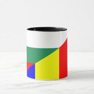Taza símbolo del país de la bandera de Rumania Bulgaria