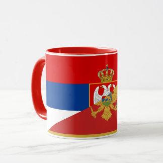 Taza símbolo del país de la bandera de Serbia