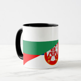 Taza símbolo del país de la bandera de Serbia Bulgaria