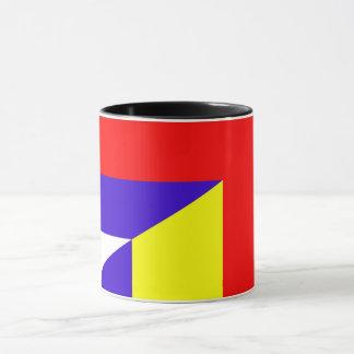 Taza símbolo del país de la bandera de Serbia Rumania
