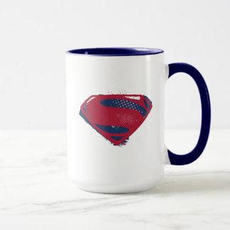 Taza Símbolo del superhombre del cepillo y del tono