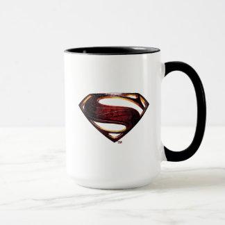 Taza Símbolo metálico del superhombre de la liga de