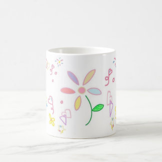 Taza simple del diseño floral