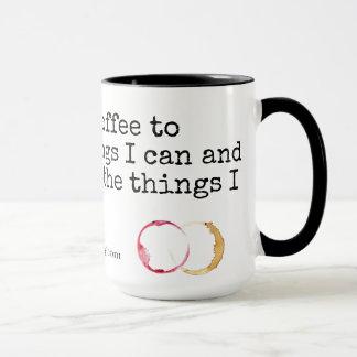 Taza Sobre el café y el vino