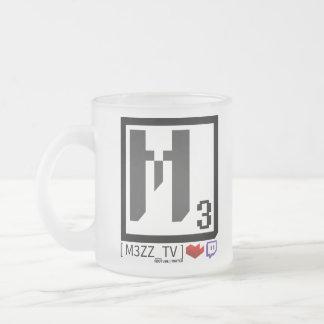 Taza social del vidrio del logotipo de M3ZZ_TV