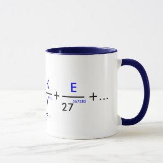 Taza ¡Su nombre en pi - personalizable!