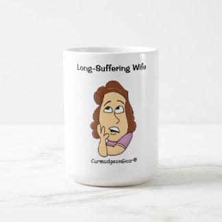 Taza sufrida de la esposa