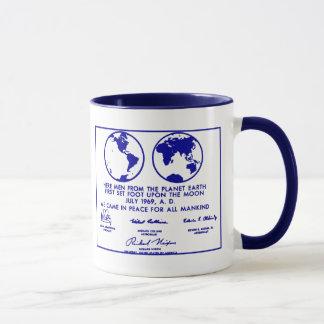 """Taza """"Taza de café azul del PLAN de APOLO"""