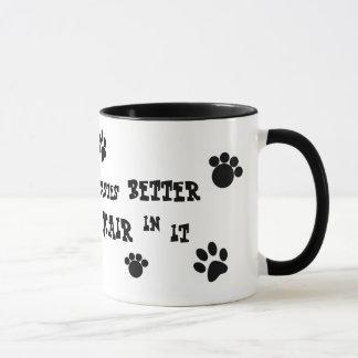 Taza ¡taza del pelo de perro!