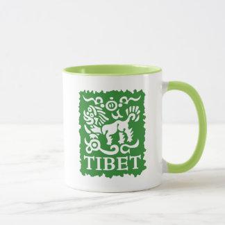 Taza tibetana del té y de café del león de la