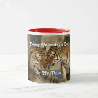 Taza Tigres del el día de San Valentín