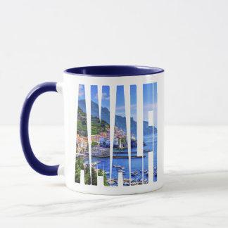 Taza Tipografía colorida de la foto de Amalfi Italia
