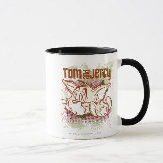Taza Tom y Jerry Brown y verde