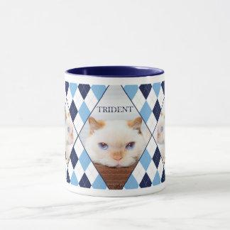 Taza Trident el café Mug_01 de Argyle del gato